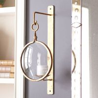 Industrial Iron Wall Sconce  Gold | Nautical style, Wall ...