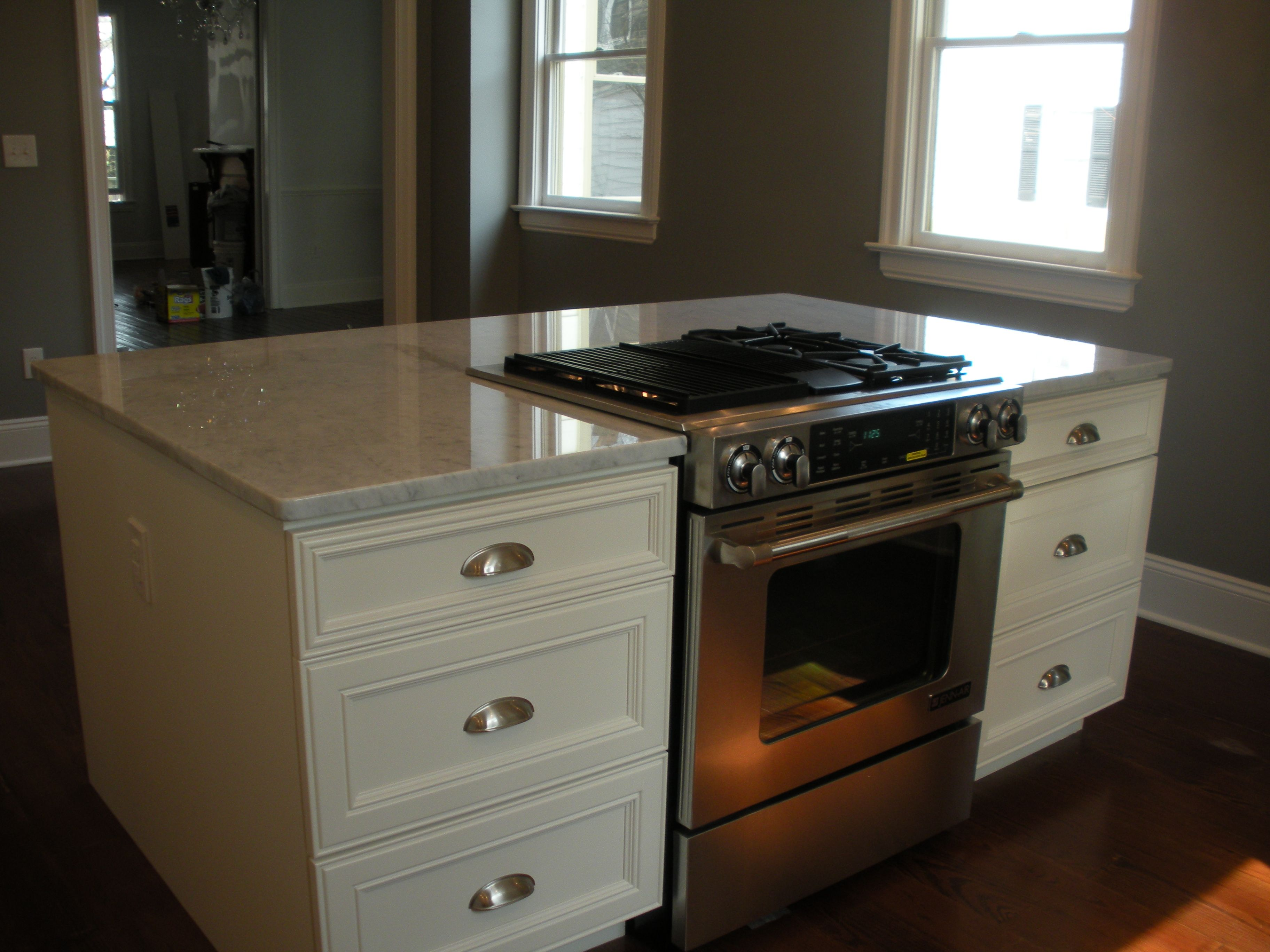 Kitchen Design Island Stove Downdraft Drop In Stove In Island Renovating A Historic