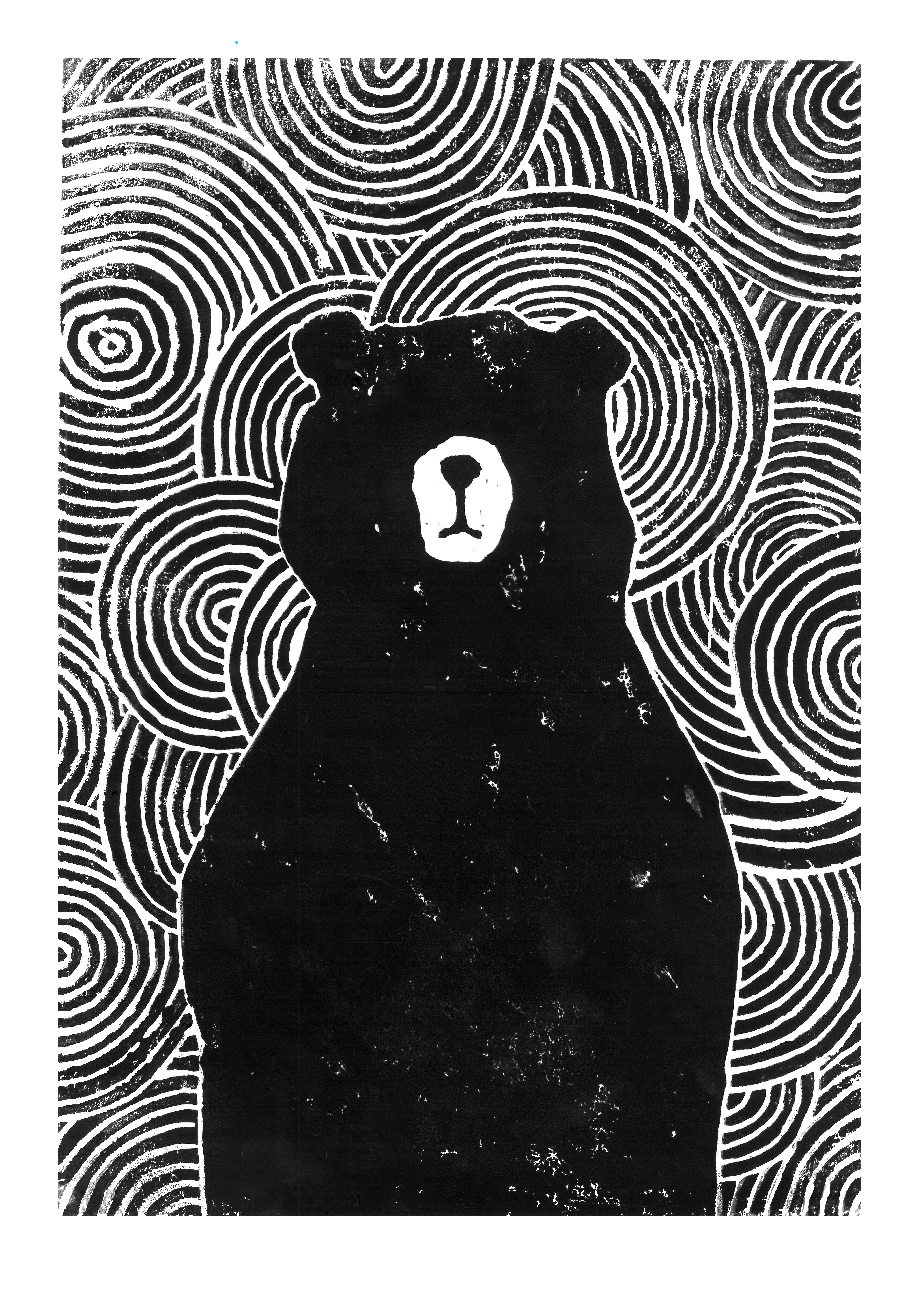 Cool Black And White Posters Lino Cut Of A Black Bear James Moffitt Woodcut Prints
