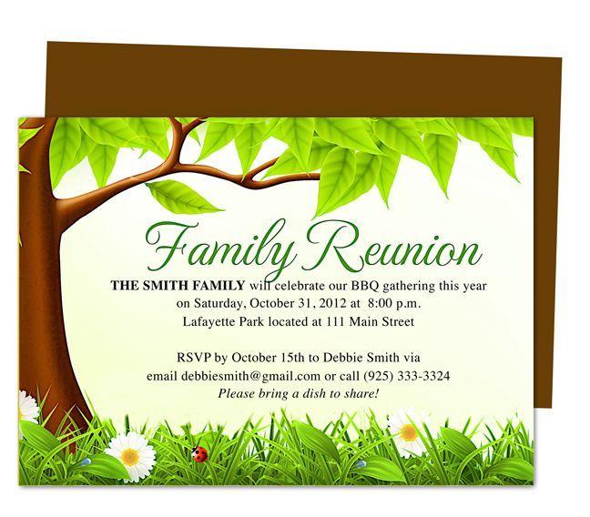 Funny Family Reunion Invitation Sanchez family reunion - class reunion invitation template