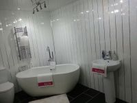 This is our White Sparkle Chrome PVC Wall panels which has ...