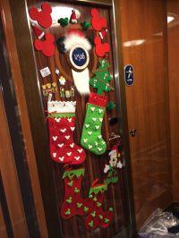My Disney cruise Christmas door decorations. Fish