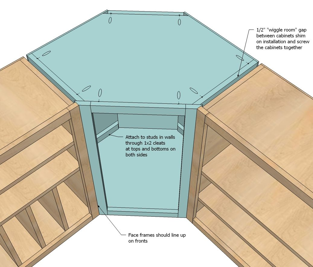 How To Build A Corner Kitchen Cabinet Ana White Build A Wall Kitchen Corner Cabinet Free And
