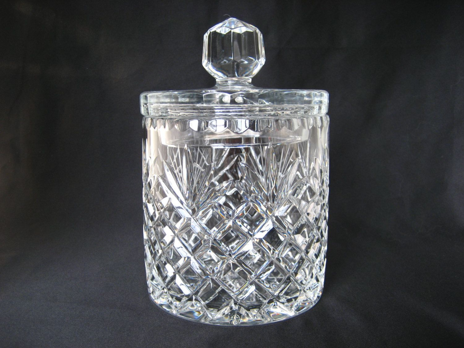 Huge Glass Cookie Jar Vintage Clear Crystal Glass Cookie Jar With Lid Lidded