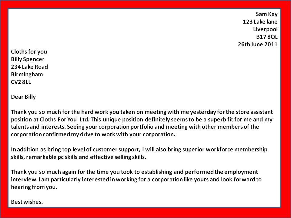job thank you letter template