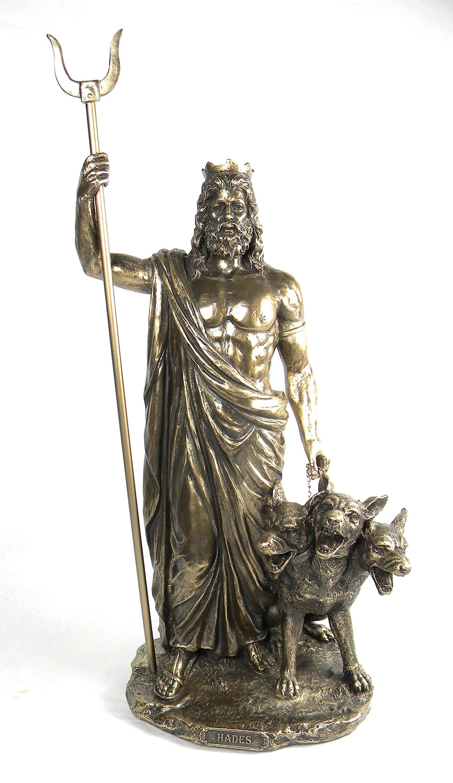 Ancient Greek Statues For Sale Bronze Finish Greek God Hades And Cerberus Statue
