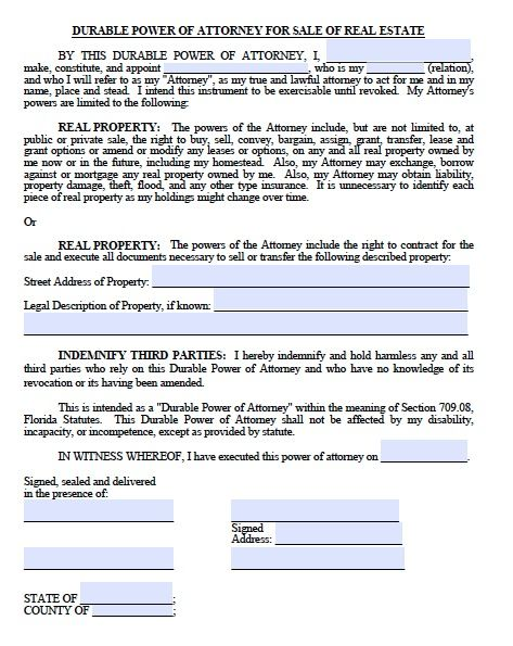 Printable Sample Power Of Attorney Form Free Printable Form Real - sample medical power of attorney form example