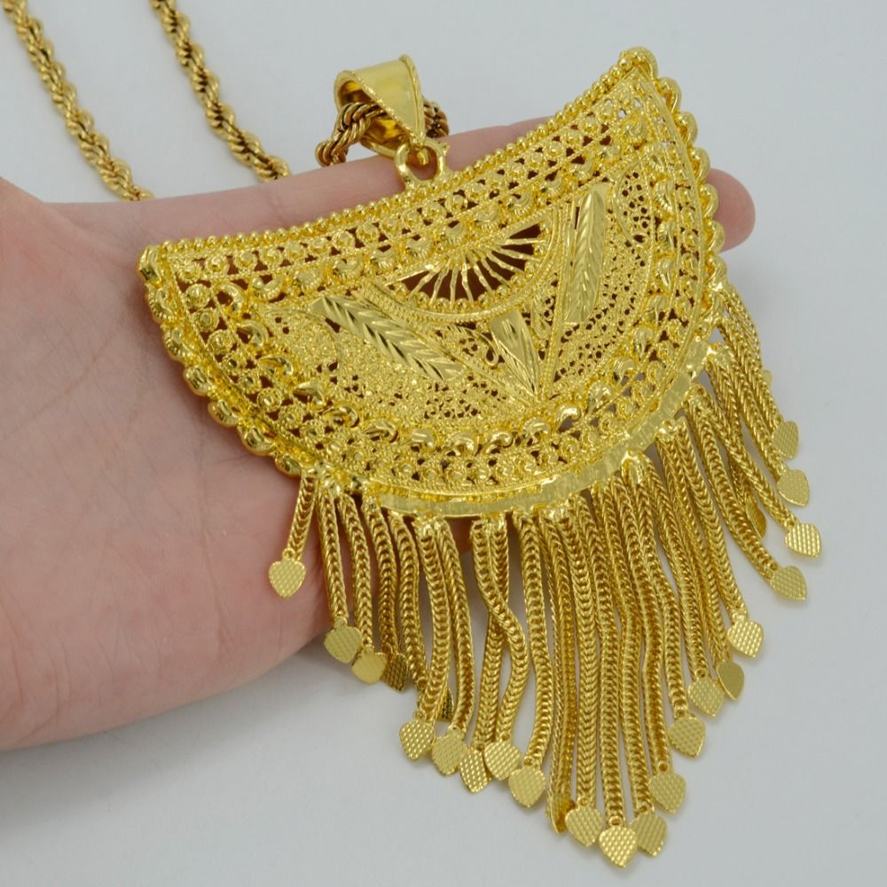 Kettenanhänger Aus Draht Selber Machen Very Big Africa Pendant Necklaces For Women Gold Plated