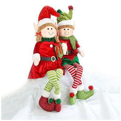 Christmas Plush Sitting Elves At Big Lots Holidays\/seasons   Big Lots  Christmas Decorations