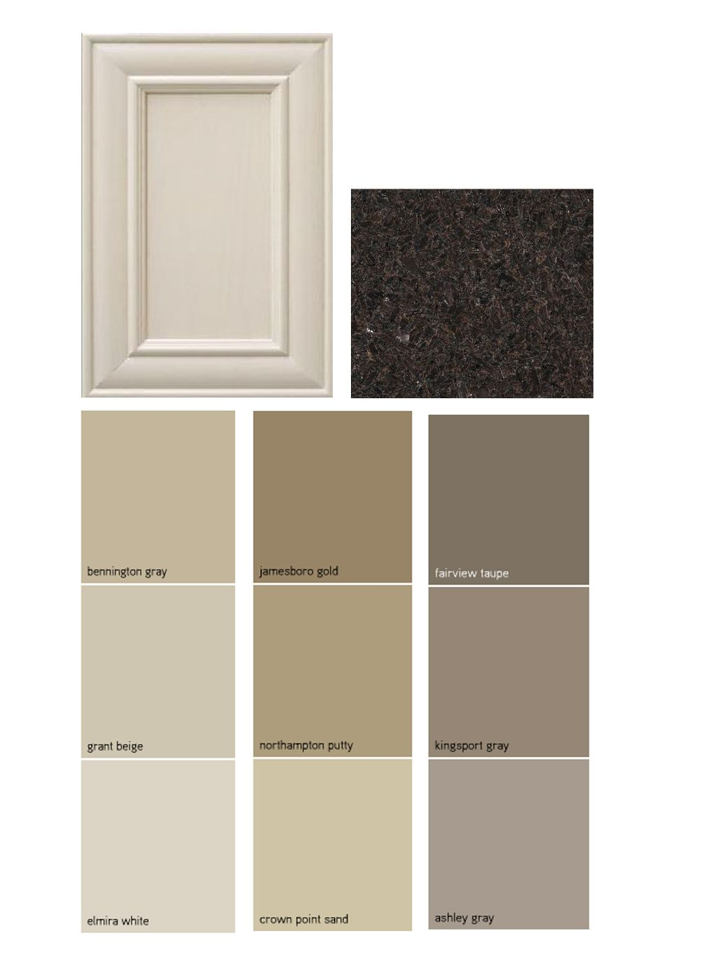 Off White Kitchen Cabinets With Brown Granite Paint Palate Dark Granite Off White Cabinets