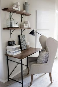 Home decorating ideas - small home office desk in rustic ...