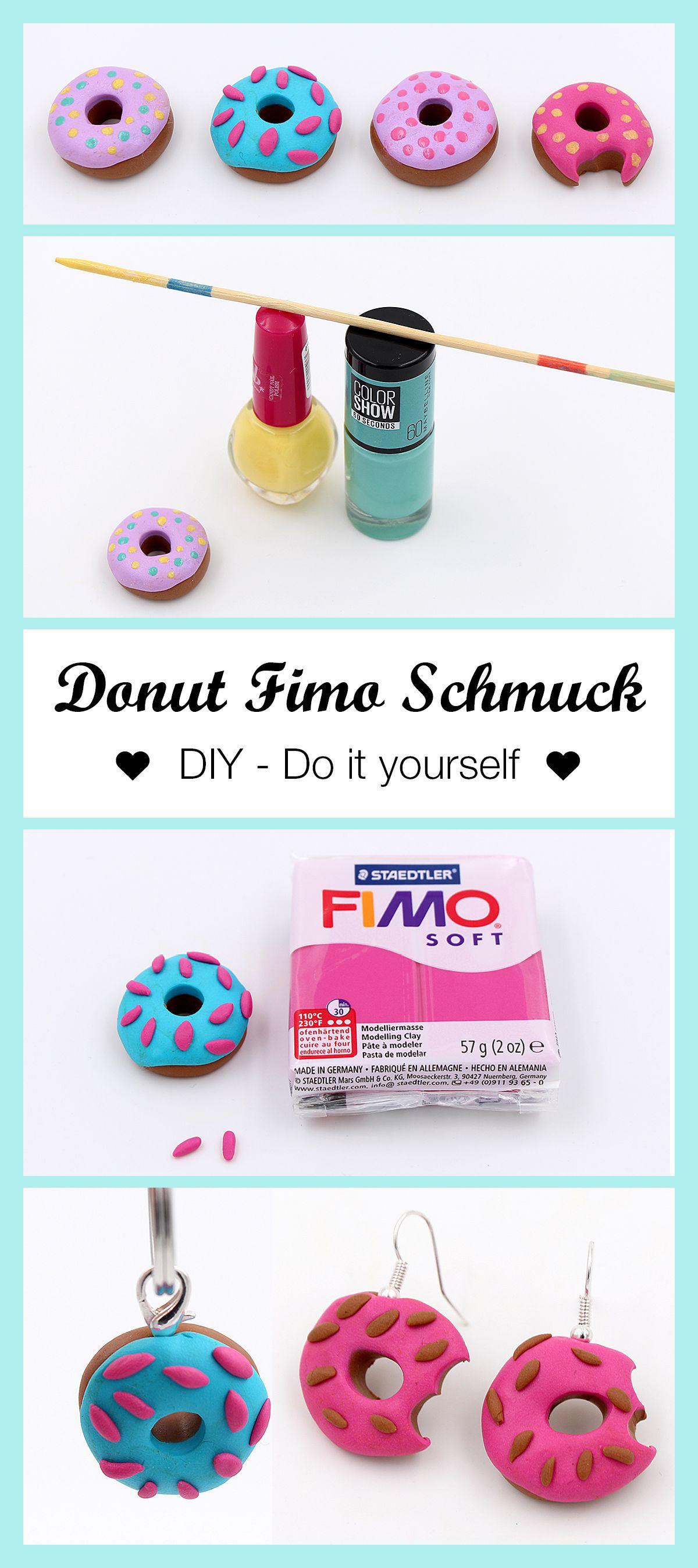 Schmuck Aus Fimo Donuts Selber Machen Diy Anleitung