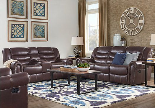 Abruzzo Brown 5 Pc Leather Living Room  $1,99999 Find - gray leather living room sets
