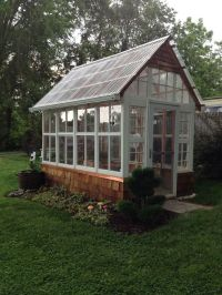 old windows in backyard - Google Search | Greenhouses ...