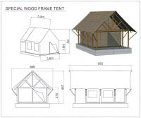 tents with wooden frames - Google Search | Living off the ...