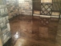 Brown-Mocha Metallic Marble Epoxy Flooring - Troy, MI ...