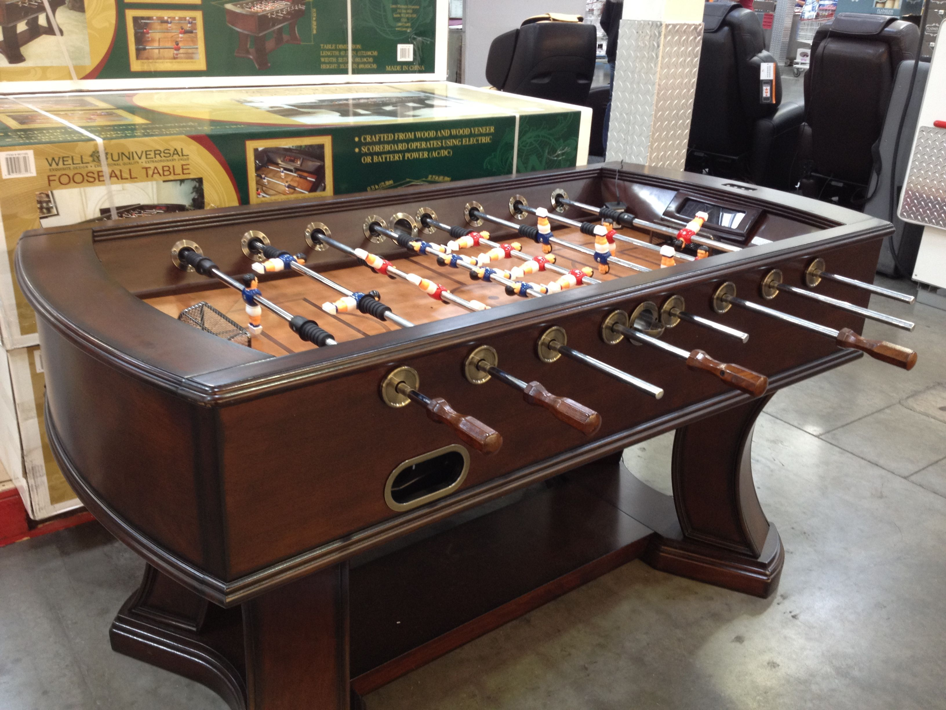 Costco Coffee Table Foosball Table With Electronic Scoring 450 At Costco