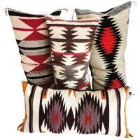 Navajo Indian Weaving Bolster Pillows /Collection of 4 ...