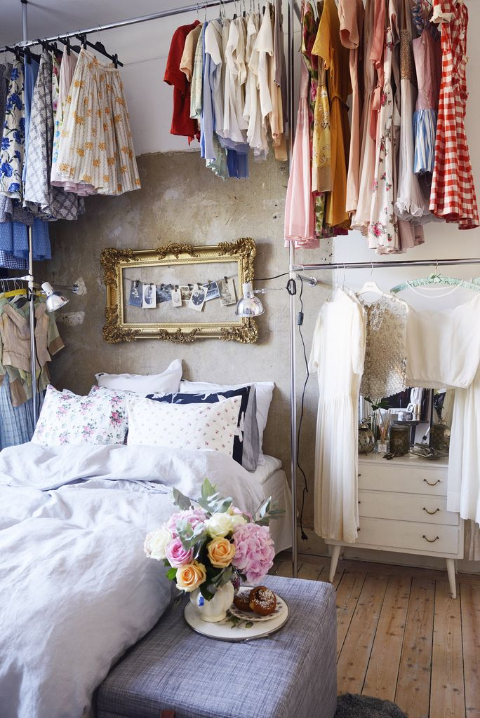 Bedroom Clothes Storage Awesome Idea, High Ceilings, Clothing Storage, No Closet