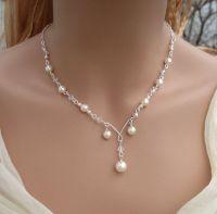 Elegant Bridal Jewelry Set- Wired Crystal Cream/Ivory ...