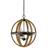 Wood Sphere Chandelier Ceiling Lamp/Ceiling Lamps/Lighting ...