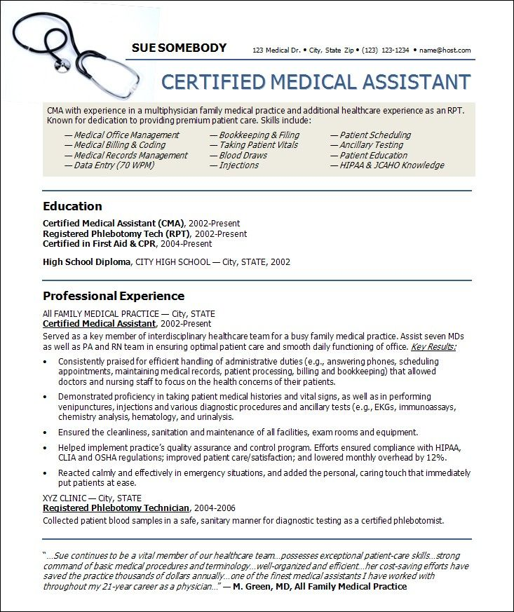 medical assistant pictures Medical Assistant Resume Templates - medical professional resume
