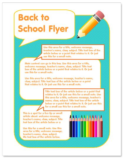 Back to school flyer template http\/\/wwwworddraw\/back-to - microsoft templates for flyers