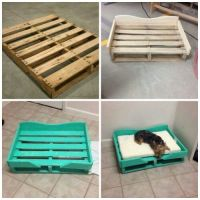 DIY PALLET DOG BED...what a great idea & looks so easy to ...