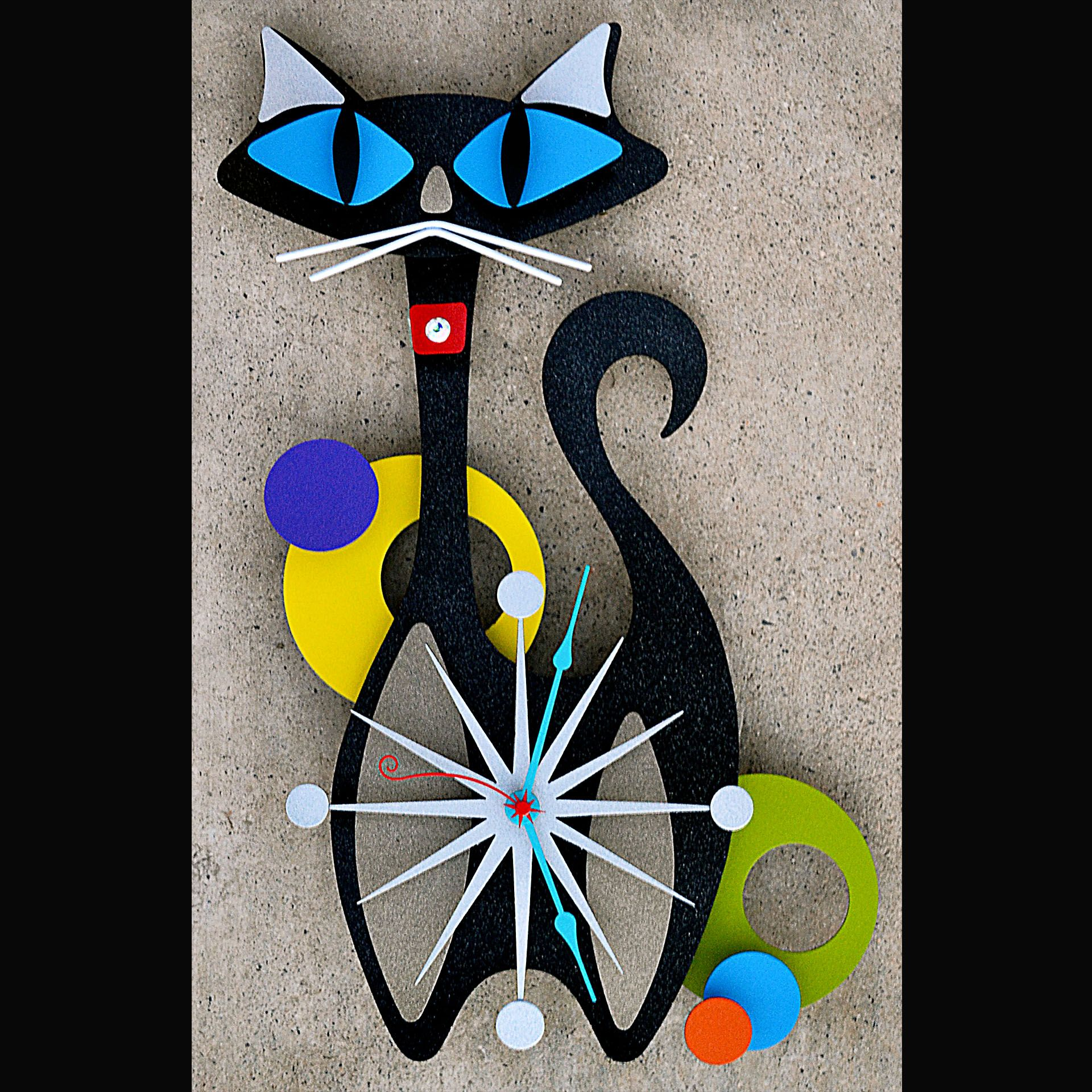 Cat Wall Art Metal Stevo Cambronne 39s Atomic Modern Retro Metal Art Metal