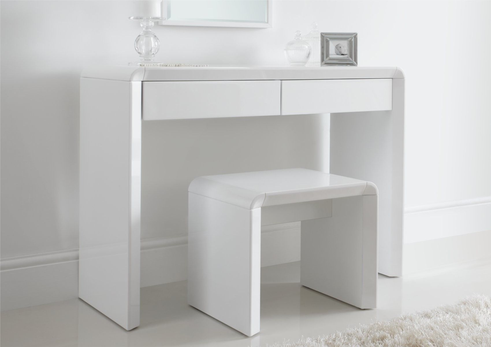 Small Vanity Dressing Table Ice High Gloss Dressing Table Only White Dressing