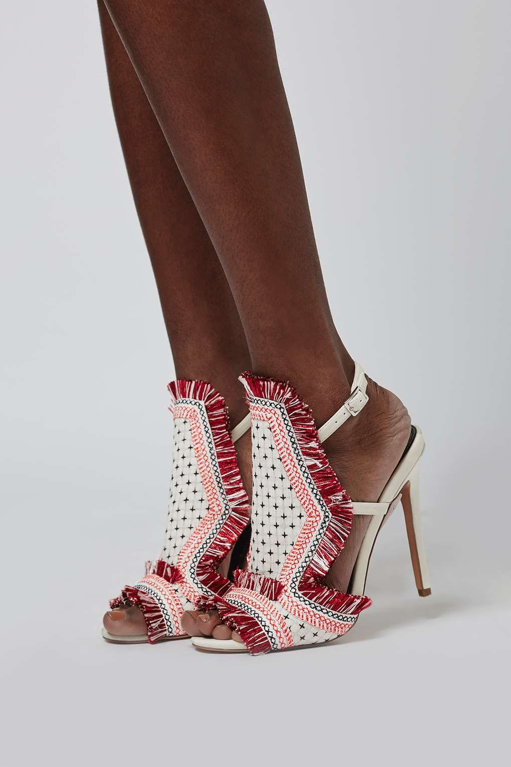 Rococo embroidered sandals shoes topshop
