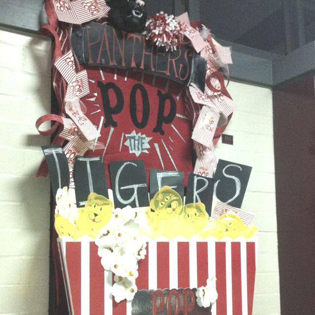 High School Homecoming door decorations