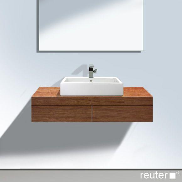 Duravit Fogo Konsole mit 2 Schubkästen und 1 Ausschnitt mittig - badezimmer konsole