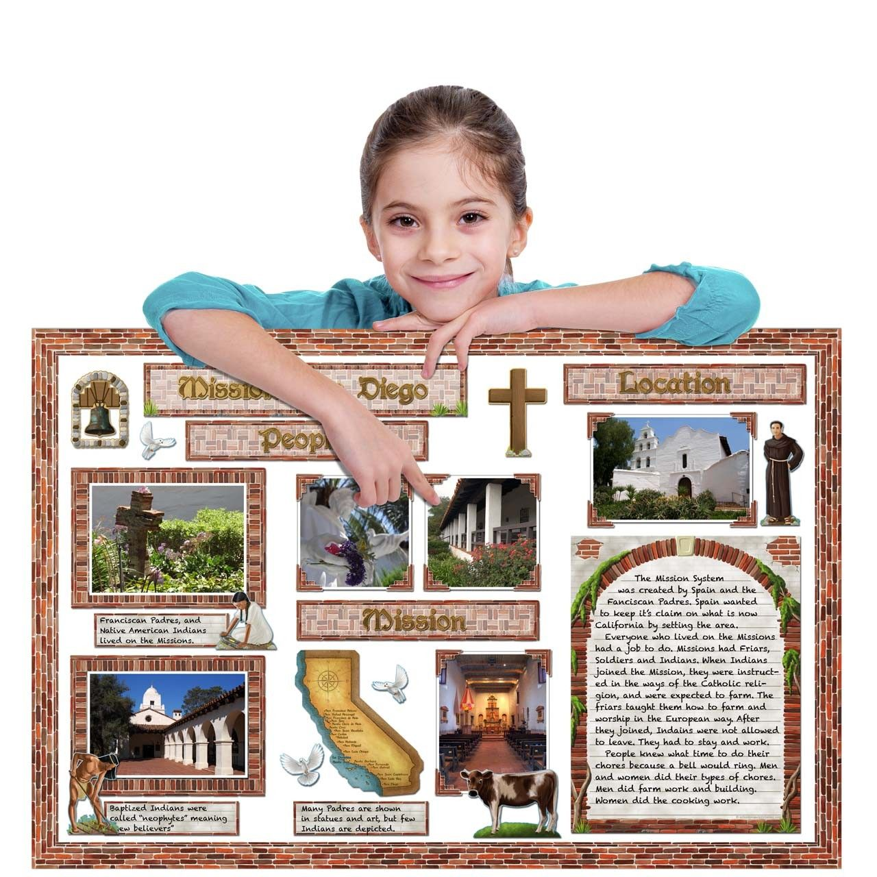 California missions design your california missions school project poster using these