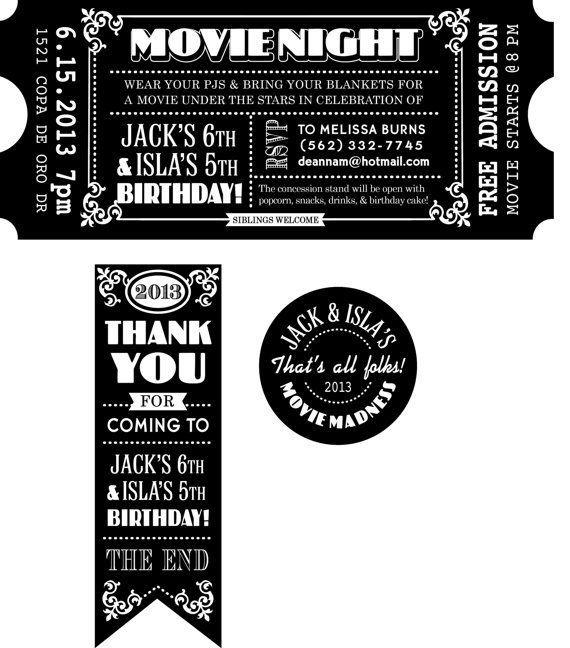 601c88ed630c42f92fd1ea675de7d617jpg (570×648) Party ideas - ticket invitation
