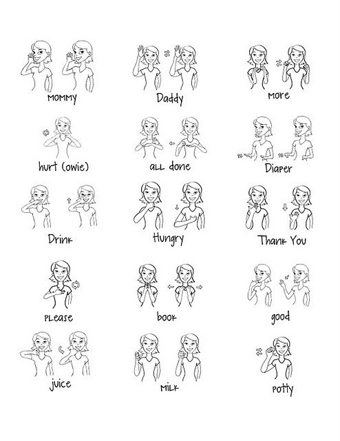 Free Baby Signs Printable Great way to communicate with baby! We - baby sign language chart template