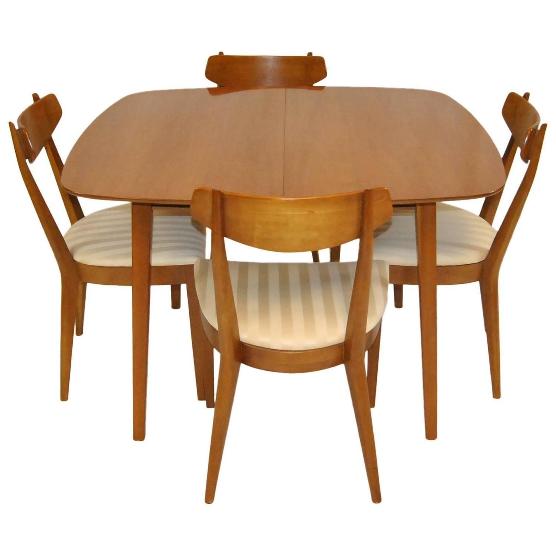 mid century kitchen chairs Mid Century Modern Dining Set by Kipp Stewart For Drexel Sun Coast Collection