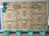 Shabby Chic Bulletin Board Wood Paper Chevron Border ...