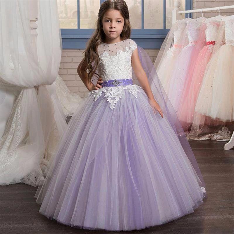 Find More Flower Girl Dresses Information about Lavender