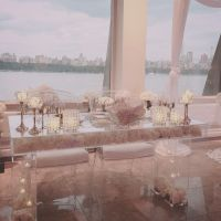 "Modern Clear Acrylic Modular Bridal/Sweetheart Table 42""L ..."