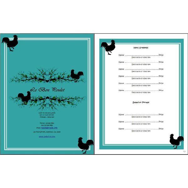 free menu templates Restaurant Menu OpenOffice Templates Free - free restaurant menu template word