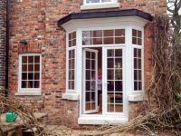 turn a bay window into french doors - Google Search ...