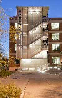 modern exterior egress stair and elevator - Google Search ...