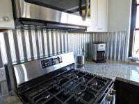 Corrugated metal backsplash | Kitchen Remodels | Pinterest ...