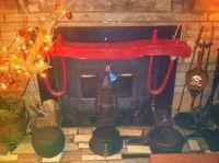 Primitive country fireplace decor--antique fireplace ...