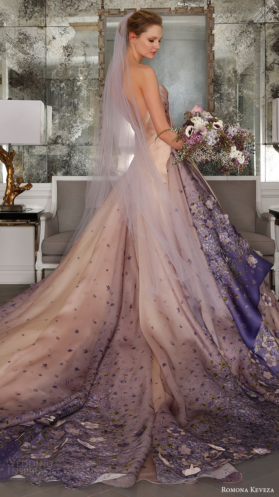 wedding dresses in color Romona Keveza Spring Wedding Dresses Ode to Paris Bridal Collection