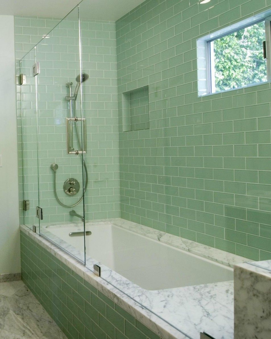 Green bathroom tile bathroom bathroom glass tile showermodern green glass subway hither green bathroom showroom sage