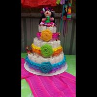 Mexican theme baby shower diaper cake! | Season's baby ...