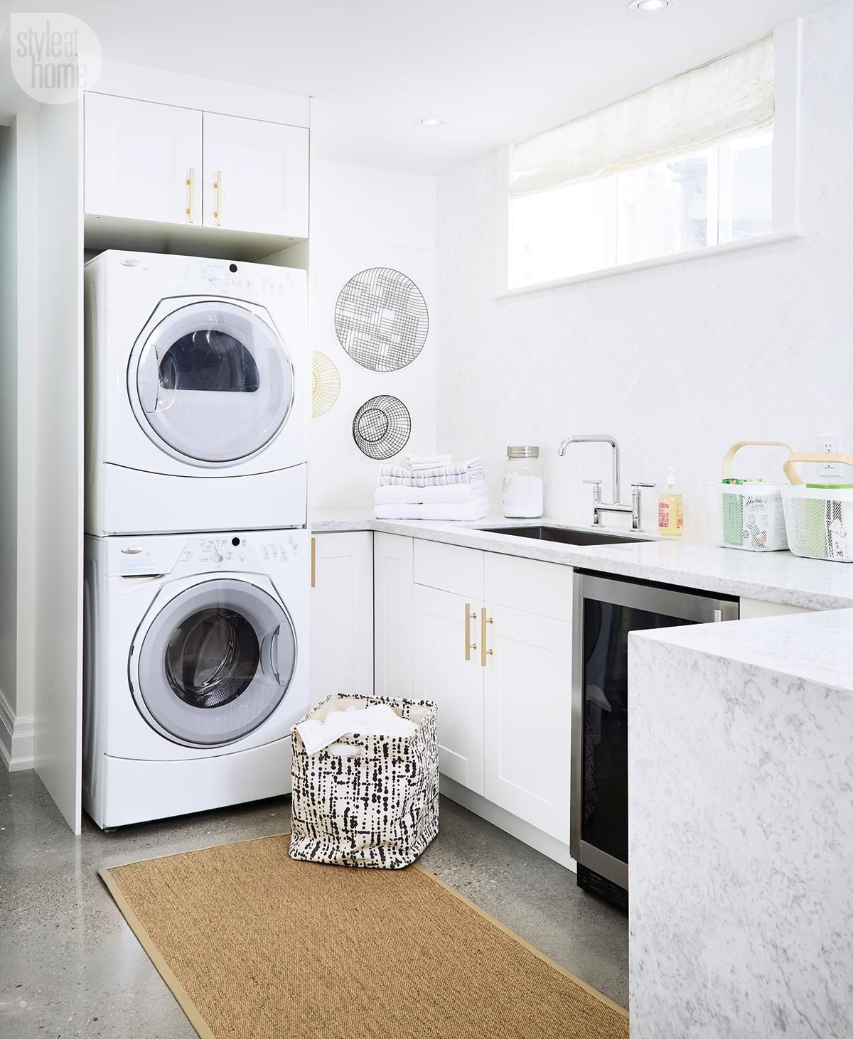 Laundry Room Ideas Ikea Basement Renovation Vibrant Multi Purpose Space
