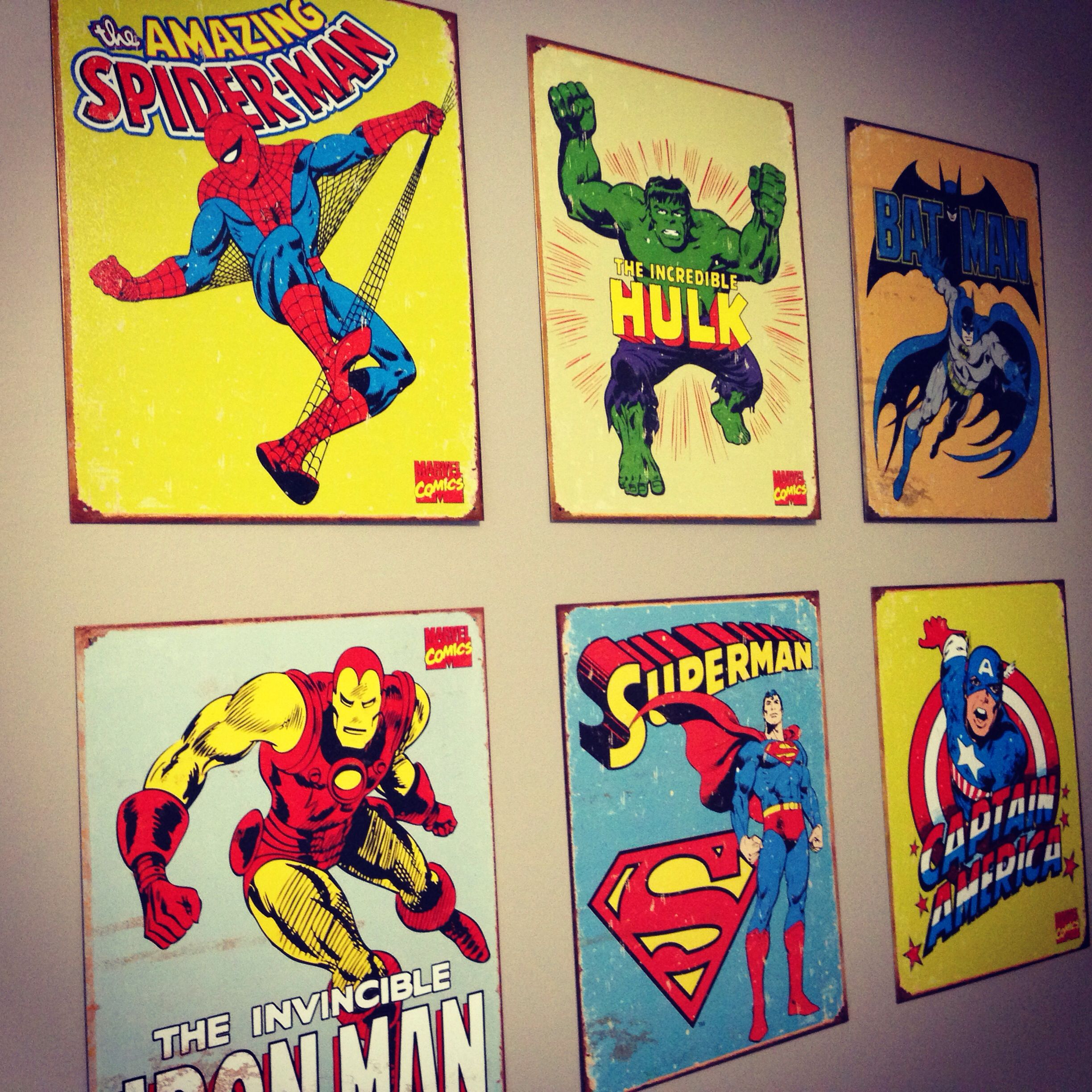 Super Hero Wall Art Tin Vintage Comic Book Cover Wall Art Very Light And Easy